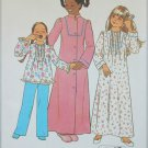 Simplicity 7731 girl's nightgown pajamas size 12 UNCUT pattern