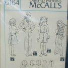 McCall 6164 girl's pants jacket skirt vest size 12 UNCUT pattern no envelop