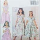 Butterick 5931 girl's fancy dress pattern sizes 7 8 10