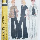 McCall 4306 misses jacket top very wide leg pants size 12 pattern vintage 1974
