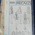 McCall 5660 misses jacket vest skirt pants sizes 10 12 14 unused no envelop