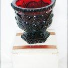Avon Cape Cod open sugar bowl in box 1981 ruby red glass