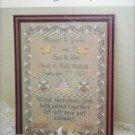 Cross stitch Wedding Sampler design Margaret McKee