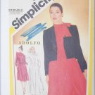 Simplicity 5192 Adolfo design skirt blouse jacket size 16 formal vintage 1981