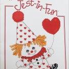 Jest in Fun clown cross stitch pattern booklet Gloria & Pat