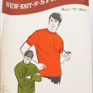 Sew Knit Stretch 309 men's T shirt sizes S M L XL uncut