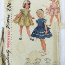 Simplicity 3469 vintage 1950s girl dress & panties size 2