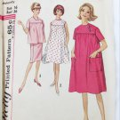 Simplicity 4857 maternity dress to skirt pattern size 16 vintage 1960s