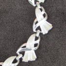 Coro necklace silver tone graceful tooled links 18""