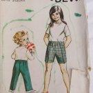 Kwik Sew 310 girls slacks pattern ages 2 4 6 stretch knits