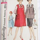 Simplicity 4641 maternity dress top skirt pattern size 12 B32 vintage 1960s