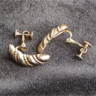 Napier clip on with tightening screw earrings gold tone crescents