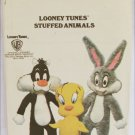 Butterick 6347 Looney Tunes stuffed animal pattern UNCUT