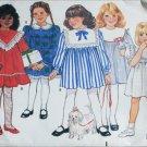 Butterick 3486 child's dress pattern sizes 2 3 4