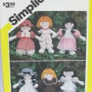 "Simplicity 5785 mini 7 1/4"" doll and wardrobe pattern"