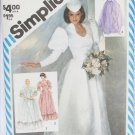 Simplicity 5724 wedding bridesmaid formal dress optional train size 10