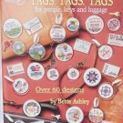 American School of Needlework 3626 Tags for people keys luggage cross stitch book