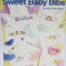 Leisure Arts 2332 Sweet Baby Bibs 8 cross stitch designs leaflet