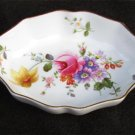 "Royal Derby posies nut candy dish 4 x 3"" gold trim"