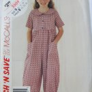 McCall 5509 girl's jumpsuit sizes 10 12 14 pattern
