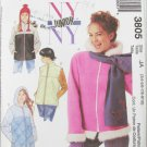 McCAll 3805 junior miss jackets vest hat sizes 3/4 5/6 7/8 9/10 UNCUT pattern