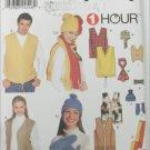 Simplicity 9500 Misses Mens Teens Vests hats scarfs sizes S M L UNCUT pattern
