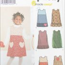 Simplicity 9348 girls jumpers sizes 3 4 5 6 7 8 UNCUT pattern
