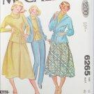 McCall 6265 Misses jacket top skirt pants sizes 18 UNCUT pattern
