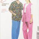 Mccall 3993 misses mens vest shirt pants sizes S M L UNCUT pattern