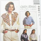 McCall 6961 misses western style blouse sizes 20 22 24 UNCUT pattern