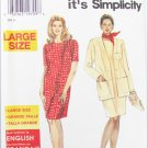 Simplicity 7453 misses dress and jacket sizes 18W to 26W UNCUT pattern