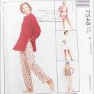 McCall 7548 misses jacket top skirt pants shorts sizes 20 22 24 UNCUT pattern