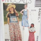 McCall 6428 girls jumper size 12 pattern
