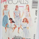 McCall 3537 misses dress pattern size 20 blouson or pleated front