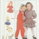Simplicity 9327 girl pants skirt blouse vest pattern size 4