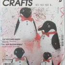 """McCall 2199 flat bottomed penguin toy pattern UNCUT 8 10 or 121/2"""""""