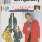 Simplicity 7342 misses shirt jacket sizes 18W 20W 22W 24W UNCUT pattern