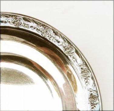 Reed and Barton Classic Rose silver plate bon bon bowl