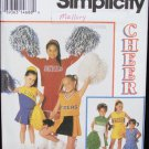 Simplicity 8701 girl's Cheerleader outfits sizes 2 4 6 pattern