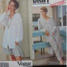 Vogue 2703 misses jacket skirt shorts pants sizes 18 20 22 Karan NY pattern