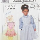 Simplicity 9282 girls jumper blouse sizes 4 5 6 pattern