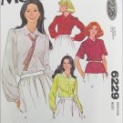 McCall 6229 misses blouse sizes 18 20 pattern
