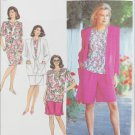 Simplicity 7128 misses mock wrap skirt shorts jacket sizes 16 18 20 22