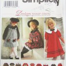 Simplicity 9777 girls dress sizes 2 3 and 4 pattern