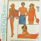 McCall 6133 Beach Mat & his her wraps vintage 1978 pattern