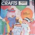McCall 9357 clown doll pattern S M L size Clark Originals