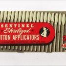 Sentinel sterilized cotton applicators tin empty as is