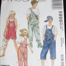 McCall 5996 child boy girl overalls size 8 to 10 pattern