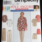 Simplicity 8173 misses shirt pants or shorts sizes 18W 20W 22W