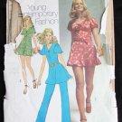 Simplicity 9714 misses mini dress bloomers pants vintage 1971 size 16 B38